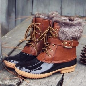 Faux Fur Duck Boots